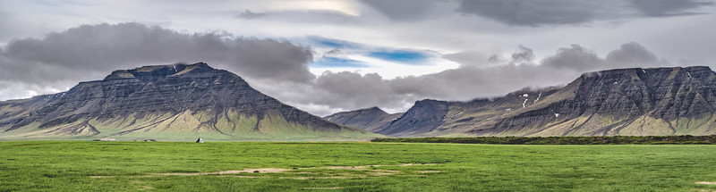 Panorama of Mountains in Iceland Photography by Wayne Heim