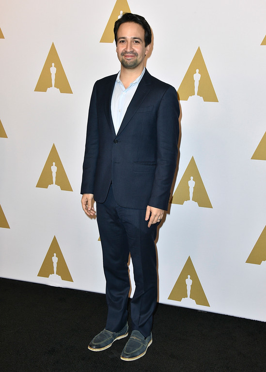 . Lin-Manuel Miranda arrives at the 89th Academy Awards Nominees Luncheon at The Beverly Hilton Hotel on Monday, Feb. 6, 2017, in Beverly Hills, Calif. (Photo by Jordan Strauss/Invision/AP)
