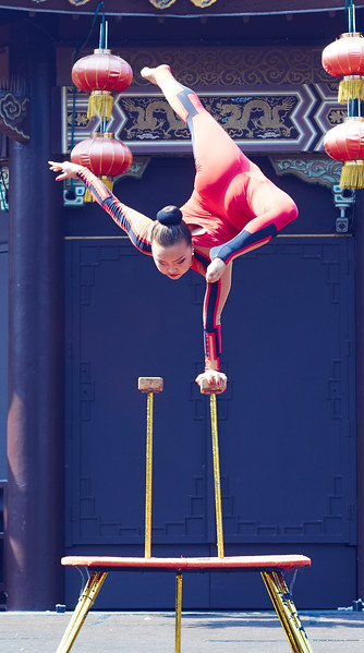 Chinese acrobats show in Phantasia Land