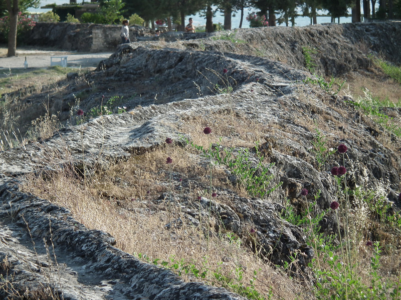One of the small aqueducts that ran all over Pamukkale. These are very old and most are not in current use.