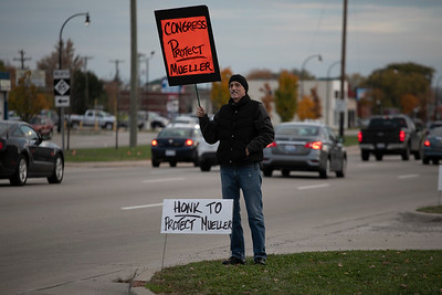 Downriver protest against the ouster of Attorney General Jeff Sessions