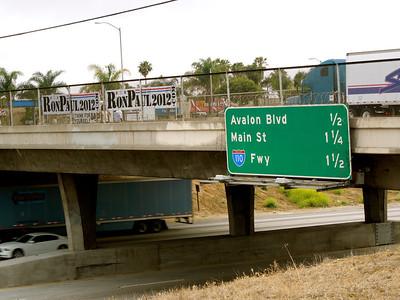 91 Freeway Bannering ~ June 5 2012