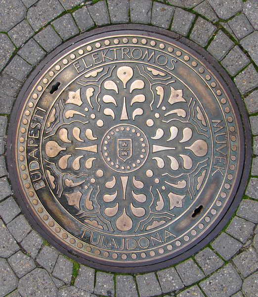 54-Manhole cover with Budapest city seal