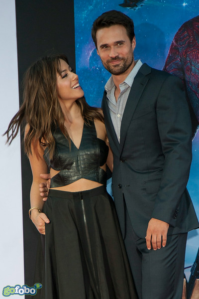HOLLYWOOD, CA - JULY 21: Actors Chloe Bennet and Brett Dalton attend Marvel's 'Guardians Of The Galaxy' Los Angeles Premiere at the Dolby Theatre on Monday July 21, 2014 in Hollywood, California. (Photo by Tom Sorensen/Moovieboy Pictures)