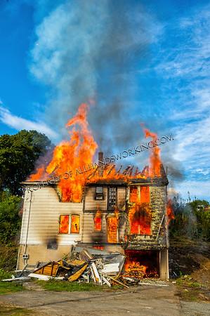 Naugatuck Fire Department live burn training