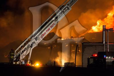 Commercial Fire, Caledonia, NY 11/2/14