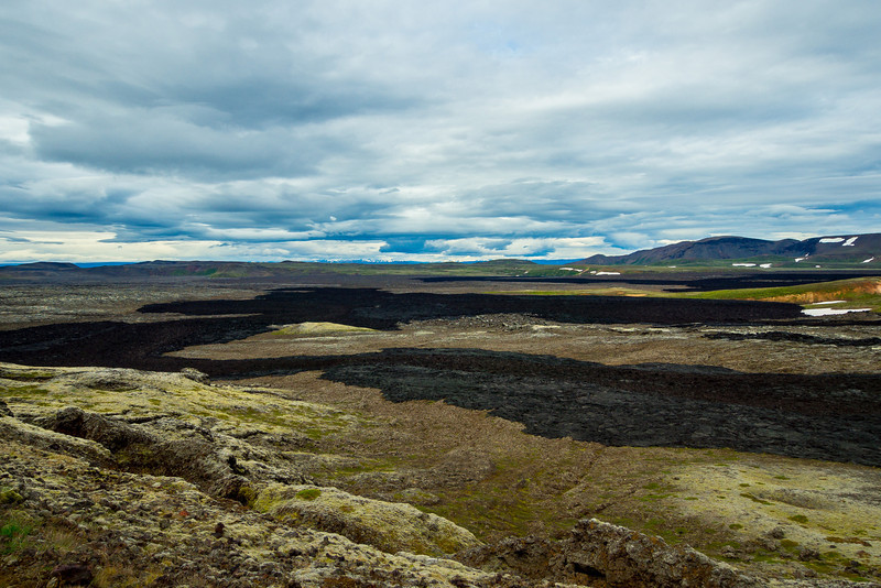 Krafla is a caldera of about 10 km in diameter with a 90 km long fissure zonein the Mývatn region.