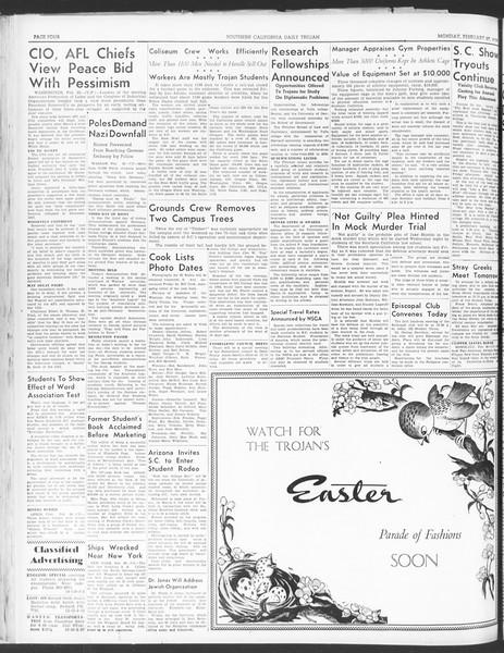 Daily Trojan, Vol. 30, No. 86, February 27, 1939