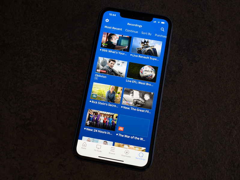Sky Go App on iPhone