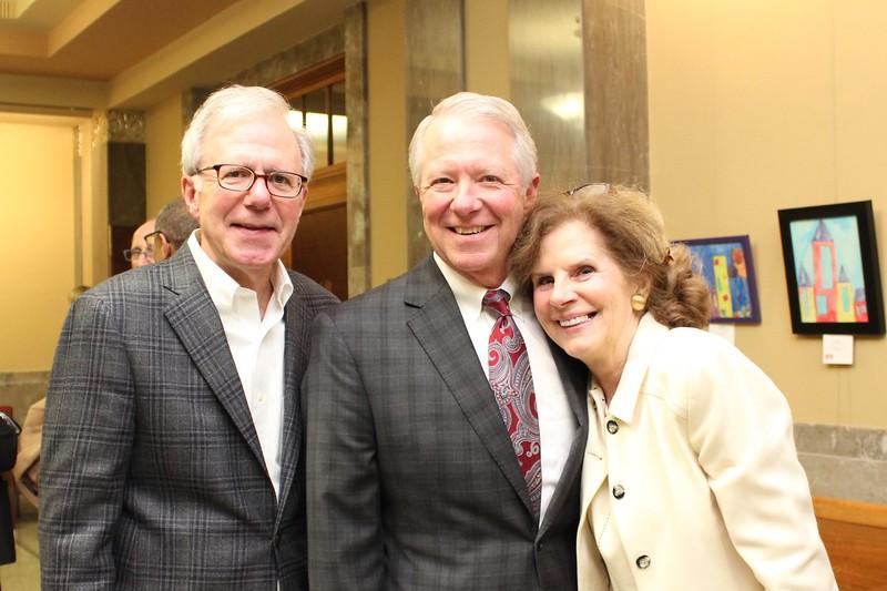 Bill Purcell, Tim Townsend, Chancellor Carol McCoy