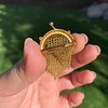 Victorian Gold Mesh Purse Charm/Pendant 4