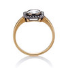 .53ctw Rose Cut Halo Ring, by Single Stone 1