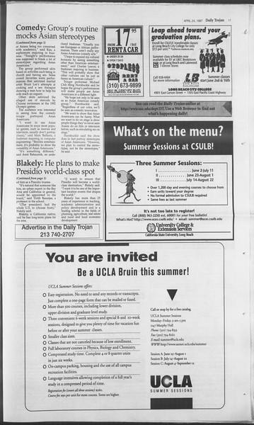 Daily Trojan, Vol. 130, No. 65, April 24, 1997