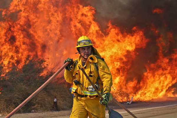 Lincoln IC Brush Fire - LA County - August 16, 2015