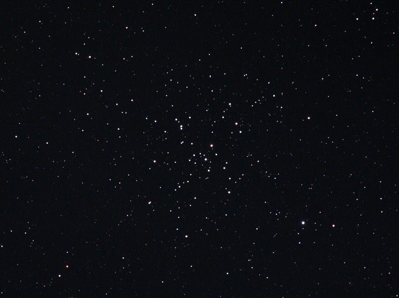 Messier M41 - NGC2287 - Open Cluster in Canis Major - 25/12/2012 (Processed cropped stack)