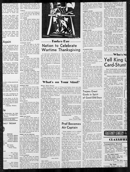 Daily Trojan, Vol. 34, No. 48, November 25, 1942