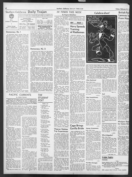Daily Trojan, Vol. 32, No. 86, February 21, 1941