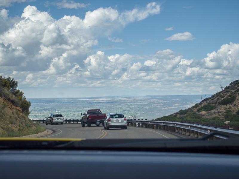 Leaving Mesa Verde Park
