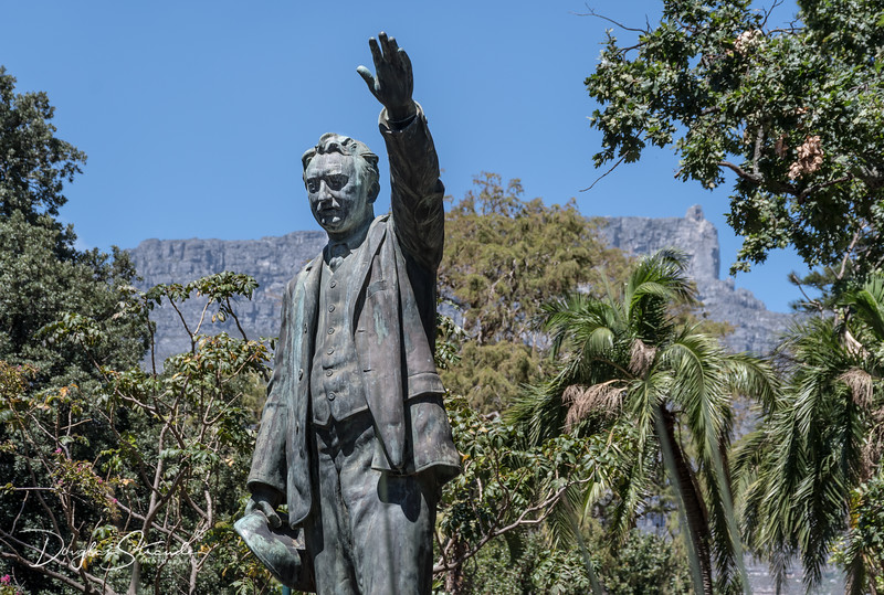 Cecil Rhodes with Table Mountain