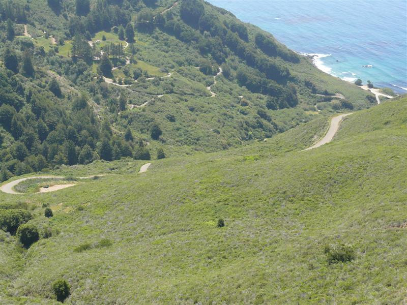 The view from about two miles up Nacimiento-Ferguson Rd.