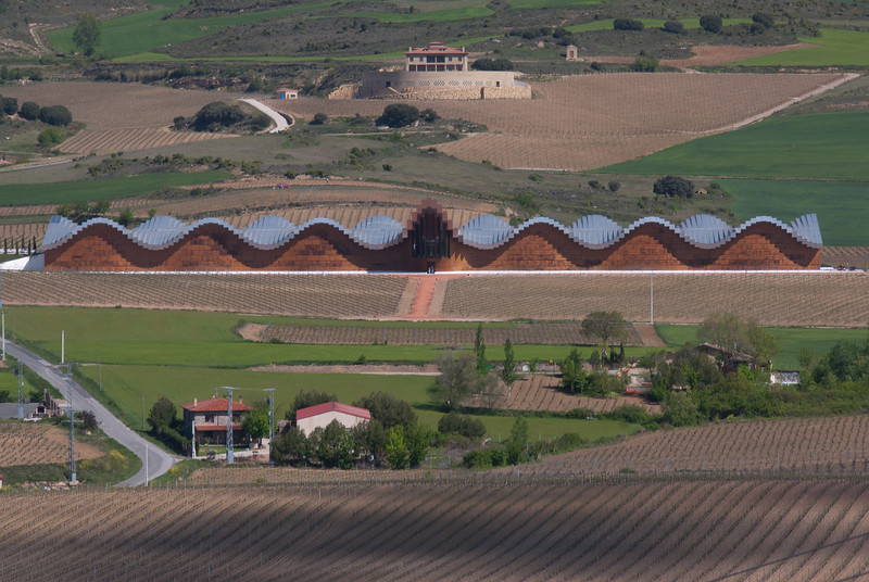 The unique roof design of Bodega Ysios in La Rioja Alavesa - Spain