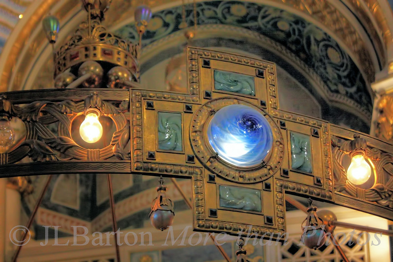 Chandelier in the Elisabeth Chapel of the Franz von Asissi church in Vienna's 2nd district