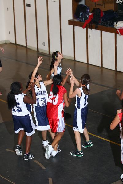 RCS MS Girls' Basketball vs Tabernacle - Jan. 25, 2011