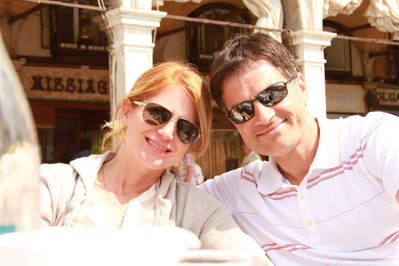 Trae and Myra in St. Mark's Square.