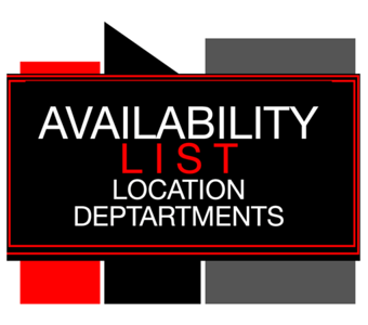 AVAILABILITY LIST - Location Departments