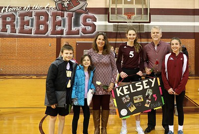 Midland Lee Senior Night Rebel Volleyball