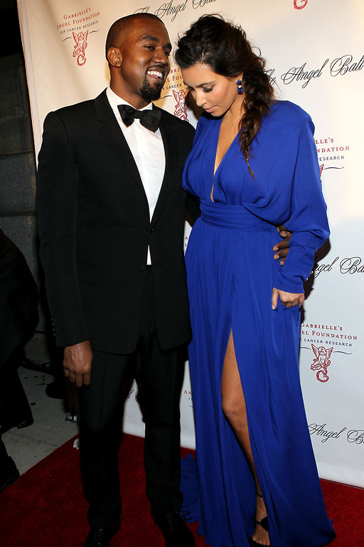 . NEW YORK, NY - OCTOBER 22:  Kanye West and Kim Kardashian attend the Angel Ball 2012 at Cirpiani Wall Street on October 22, 2012 in New York City.  (Photo by Steve Mack/Getty Images)