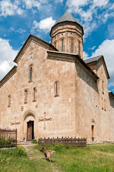 Orthodox Barakoni Church of Mother of God in Tsesi near Ambrolauri, Racha province, Georgia
