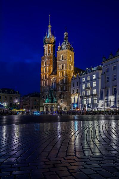 Church in the Krakow square