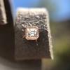 .52ctw Asscher Cut Diamond Bezel Stud Earrings, 18kt Rose Gold 27