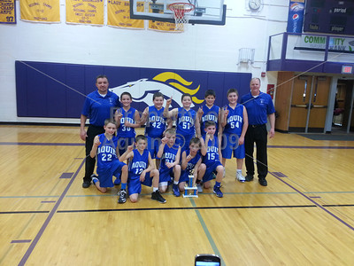 5th grade boys bball conference tourney champs . 2.22.14