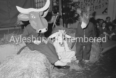 St Joseph's Xmas party rehearsal, Dec 1975