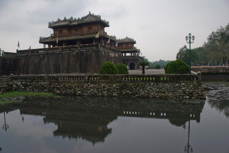 Entrance to Citadel in Hue, Vietnam