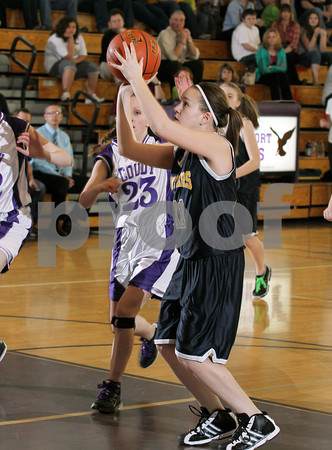 2012 Northern Potter Girls Jr. High Basketball @ Coudersport