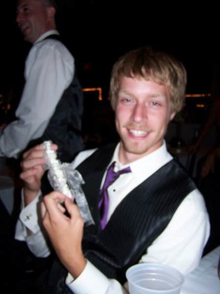 Jered caught the garter (but kindly returned it to his brother)