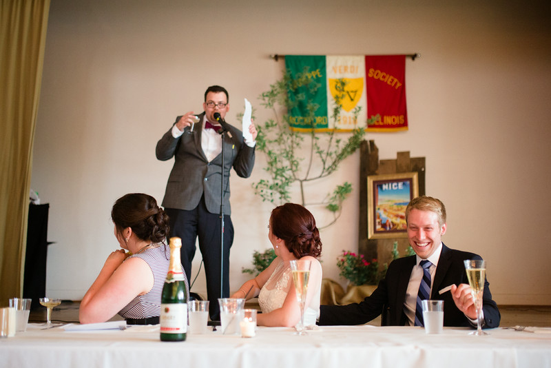 Reception at the Verdi Club in Downtown Rockford IL by Mindy Joy Photography