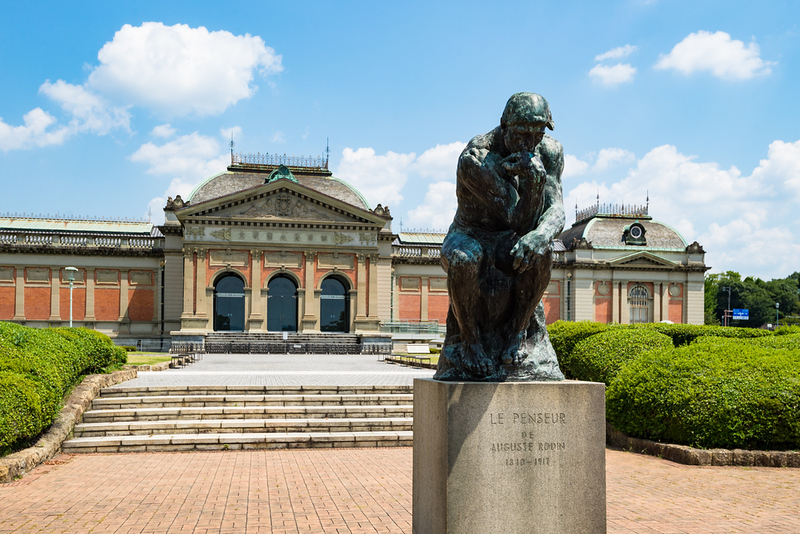 The Thinker statue in Kyoto National Museum. Editorial credit: twoKim images / Shutterstock.com