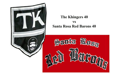 40B Santa Rosa Red Barons 40 vs The Khingers