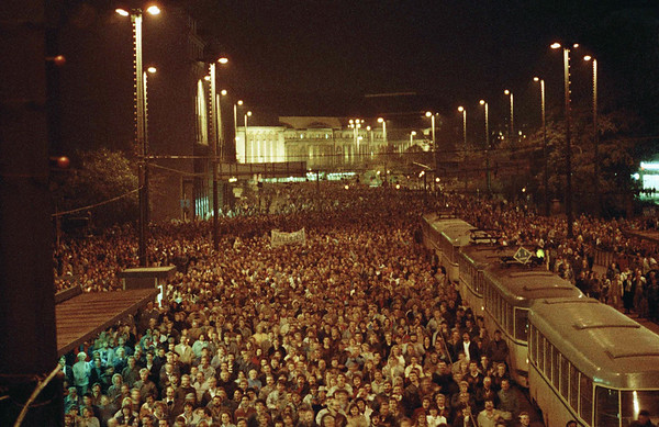 9.10.1989 Montagsdemonstration in Leipzig