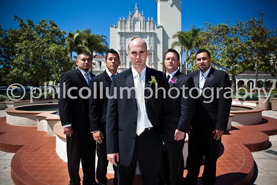 Bried, Groom and Wedding Party Portraits