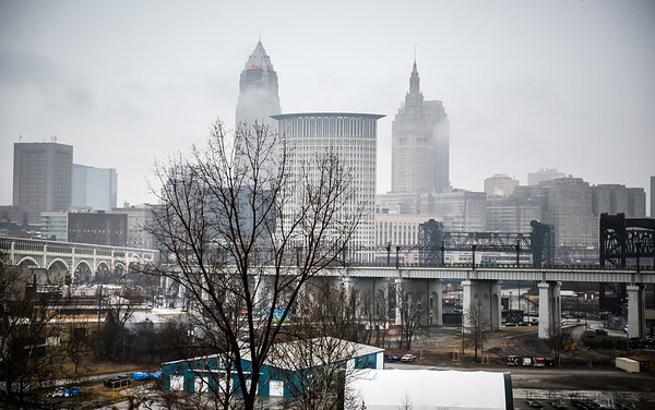 Foggy Downtown Cleveland