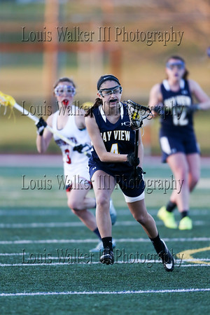 LAX Girls Bayview at Portsmouth on 4/15/16