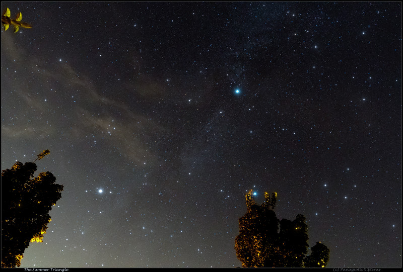 The Summer Triangle behind the trees.jpg