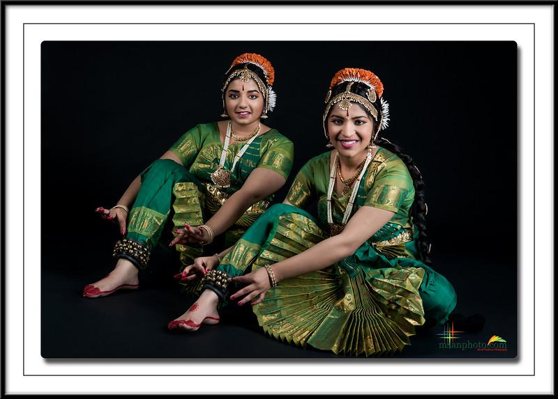 Sakshi & Himani's Pre-Arangertam Portraits