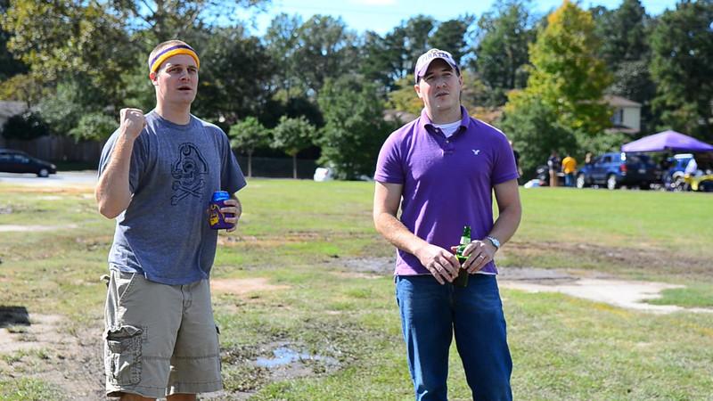 10/1/2011 ECU vs North Carolina  Chuck, Kurt