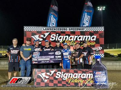 Lawrenceburg - Indiana Sprint Week USAC 7/21/19 - Dave Dellinger